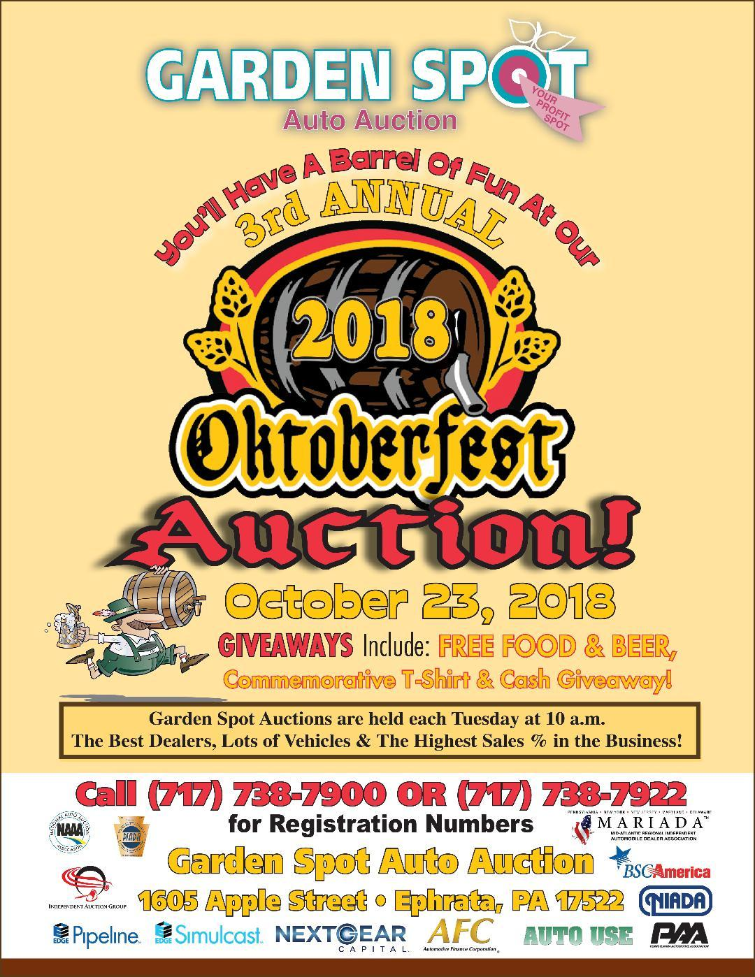 1023 3rd annual oktoberfest - Garden Spot Auto Auction