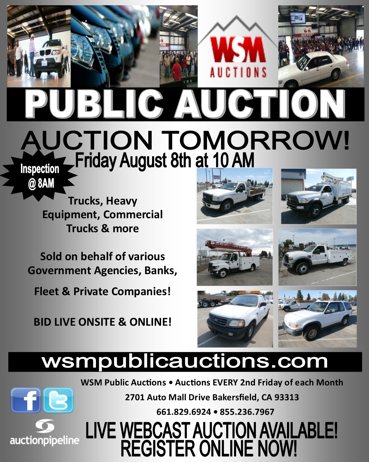 Bakersfield Auto Mall >> Register At 8am Auction Start Time 10 00 Am Open To